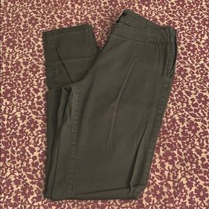 Hunter green bootleg cut pant